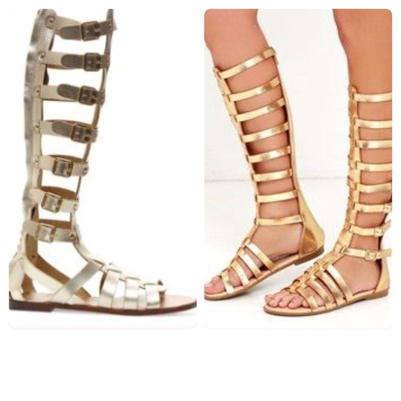 654798231aa0 Madden Girl Shoes - Madden Girl Penna Tall Gladiator Buckles Gold